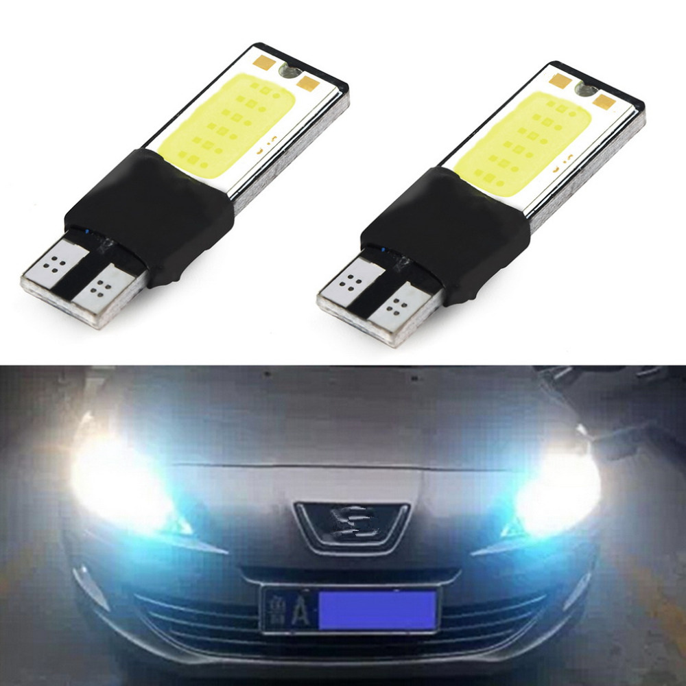 1pcs T10 LED 194 168 W5W COB Interior Bulb Light Parking Backup Brake Lamps Canbus No Error Cars xenon Auto Led 2pcs t10 canbus led car light 6smd 5630 auto no error free 12v w5w 194 168 bulb stopturn signal interior parking light