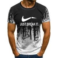 2018 Новая мода Для мужчин's футболка JUST BREAK IT печати с коротким рукавом футболка s фитнес-футболка Для мужчин футболки Повседневная одежда