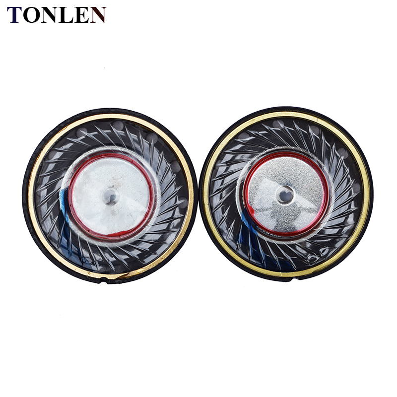 TONLEN 2PCS 30mm Headphone Speaker Headset Horn 50mW 32 ohm HIFI DIY Headphone Accessories Upgrade Headphone replacement speaker