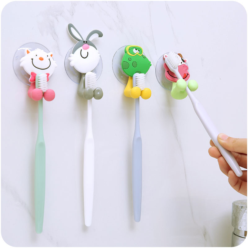 1pcs Animal Cute Cartoon Suction Cup Toothbrush Holder