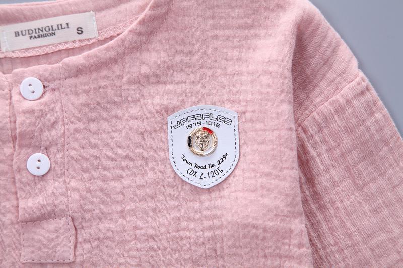 HTB1A1ewSXXXXXb6XpXXq6xXFXXXU - Infantis Childrens spring autumn summer cotton Boys tops tees long sleeve t shirt +bind pants 2pc/set ,kids Clothes 0-5Year