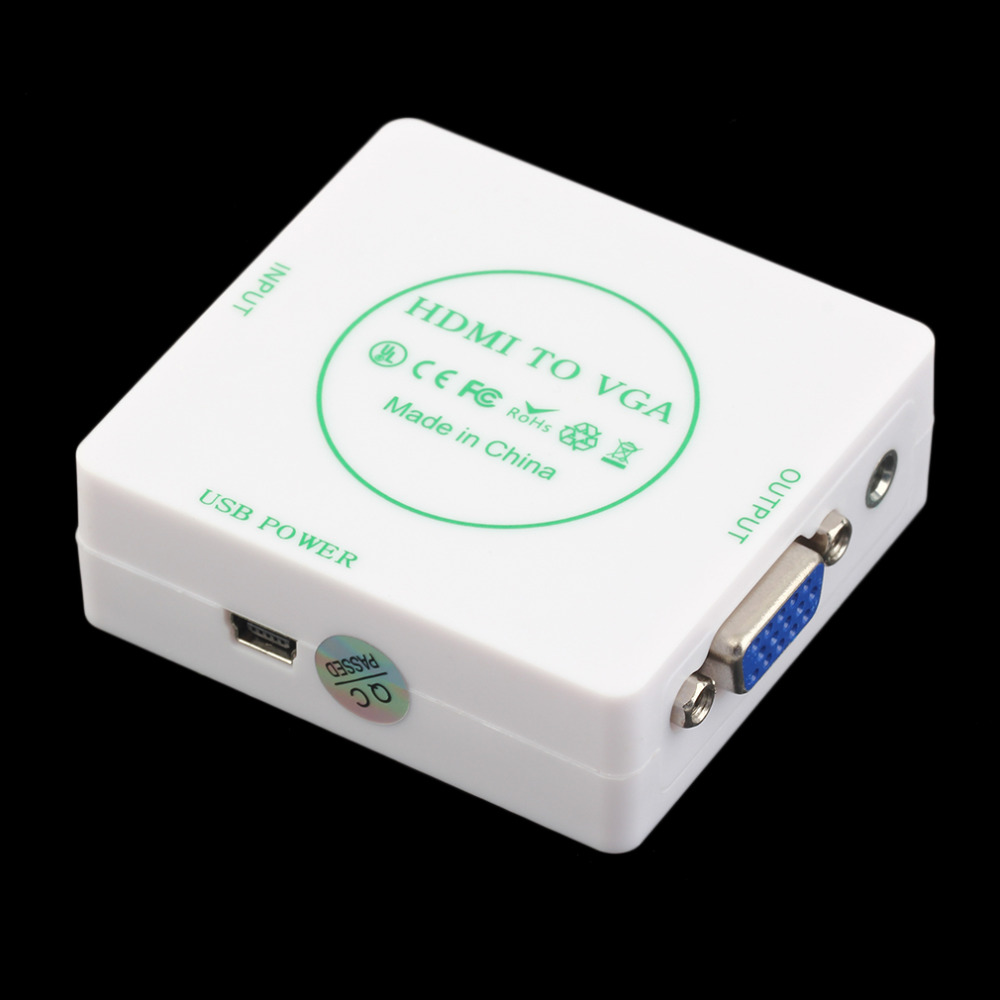 High Definition Video HDMI To VGA and Audio Analog Audio Signal Converter Digital to Analog Audio Converter Adapter hot