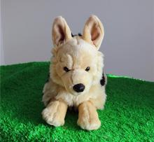 Stuffed Animal  Simulation Shepherd  Plush  Children'S  Toys  Cute Black Back Dogs  Dolls  Gift