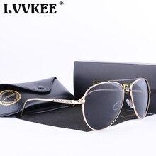 Lvvkee marca 2017 de alta calidad de la lente polarizada aviator gafas de sol de los hombres/mujeres de gran tamaño gafas de sol uv400 eyewear accesorios