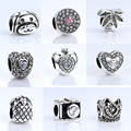 12 Style Radiant Hearts,Dog Animal,Crown,Pineapple,Camera Charms Beads Fit Pandora Bracelets Necklace DIY Jewelry Accessories