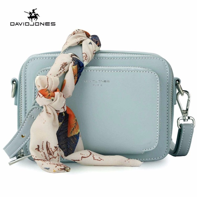 DAVIDJONES women handbag pu leather female messenger bags small lady scarve crossbody  bag girl brand shoulder bag drop shipping 414c4637a69ec