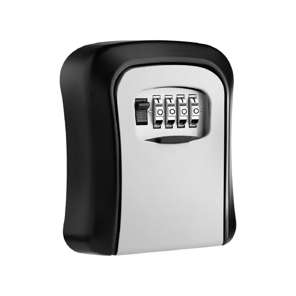 4 Digit Combination Key Lock Box Organizer Wall Mount Key Safe Box Metal Outdoor Security Key Box