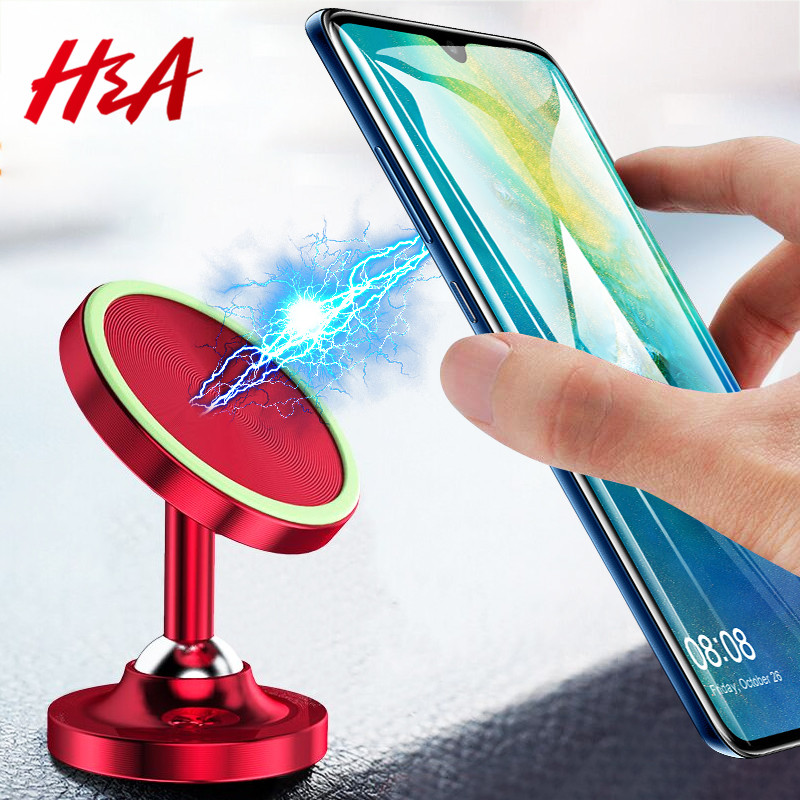 H A 2019 New Universal Magnetic Car GPS Phone Holder For iPhone 7 8 X XS  Max For Samsung S9 S8Plus Mobile Phone Car Holder Stand 6f3b85765b6d