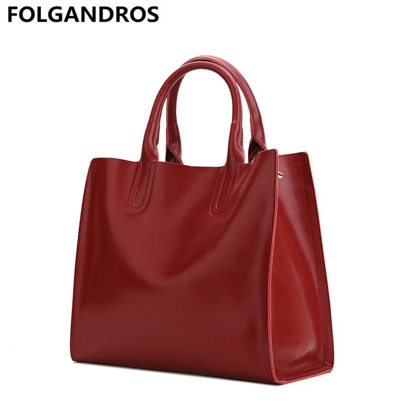 Women Genuine Leather Handbag Vintage Classic Ladies Shoulder Bag Brand High  Quality Casual Female Portable Tote d2679f95afac3