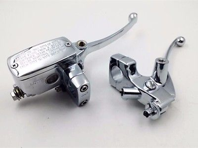 Chrome 7/8 Handlebar Brake Clutch Levers Motorcycle Cruiser Street Bike Custom штативная головка benro pc0