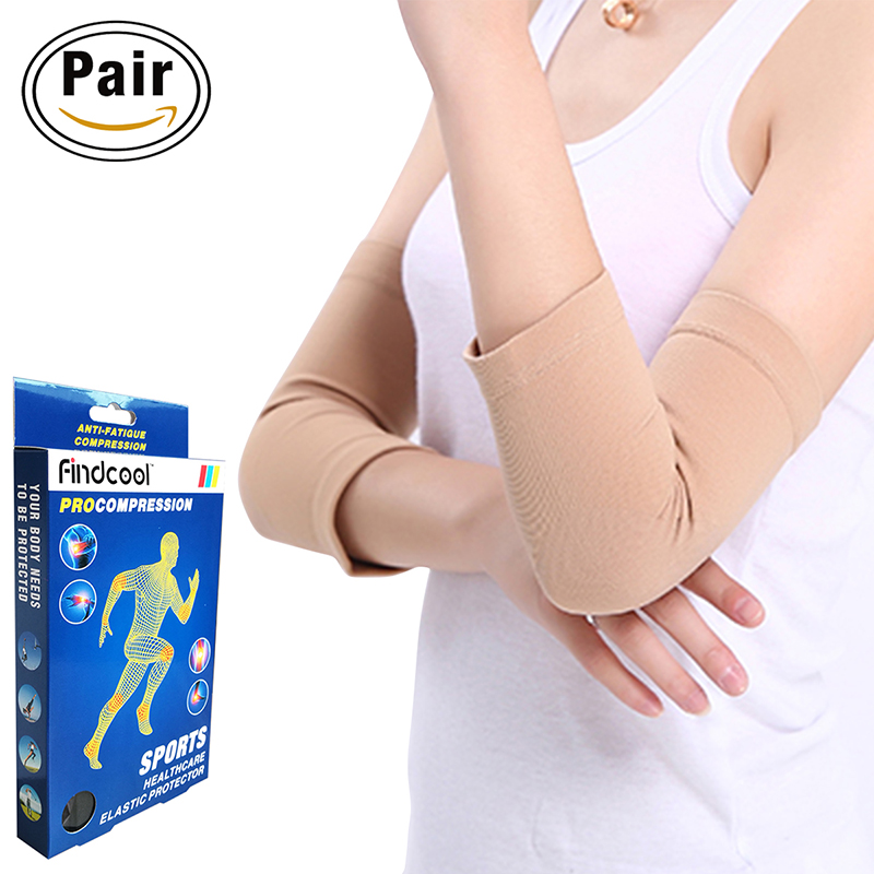 Findcool Sports Safety Elastic Elbow Brace Sleeve Elbow Pads for Volleyball Tennis Elbow Support Absorb Sweat Elbow Protection
