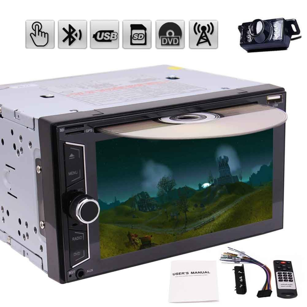 Car audio in dash 6.2'' 2 Din double din Car Radio Stereo no GPS Tape Recorder Player Car Receivers automagnitol rearviwe camera 7 inch 2 din bluetooth car stereo multimedia mp5 player gps navigation fm radio auto rear view camera steering wheel control