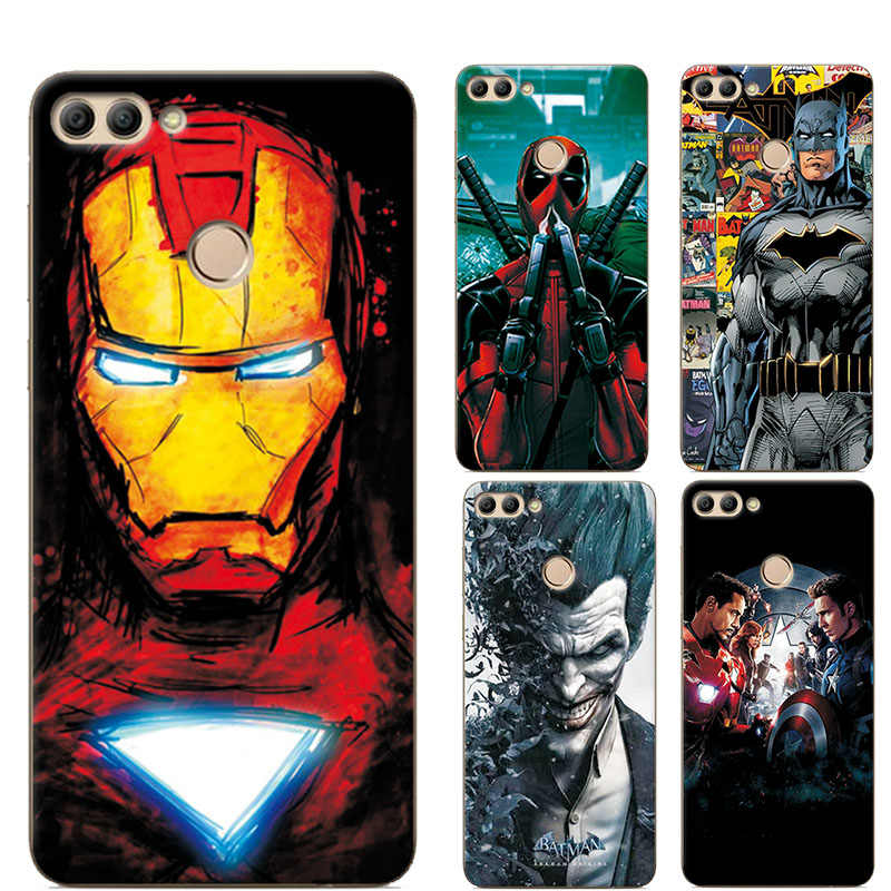 "adlucky Cover For Huawei Y9 2018 Case 5.93"" Marvel Avengers Charming Painted Silicone Phone Case For Huawei Y9 2018 Enjoy 8 Plus"