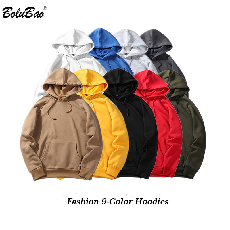BOLUBAO Fashion Brand Hoodies Men 2019 Autumn Male Casual Solid Color Hoodies Sweatshirt Male Hip Hop Streetwear Hoodie Top Mens