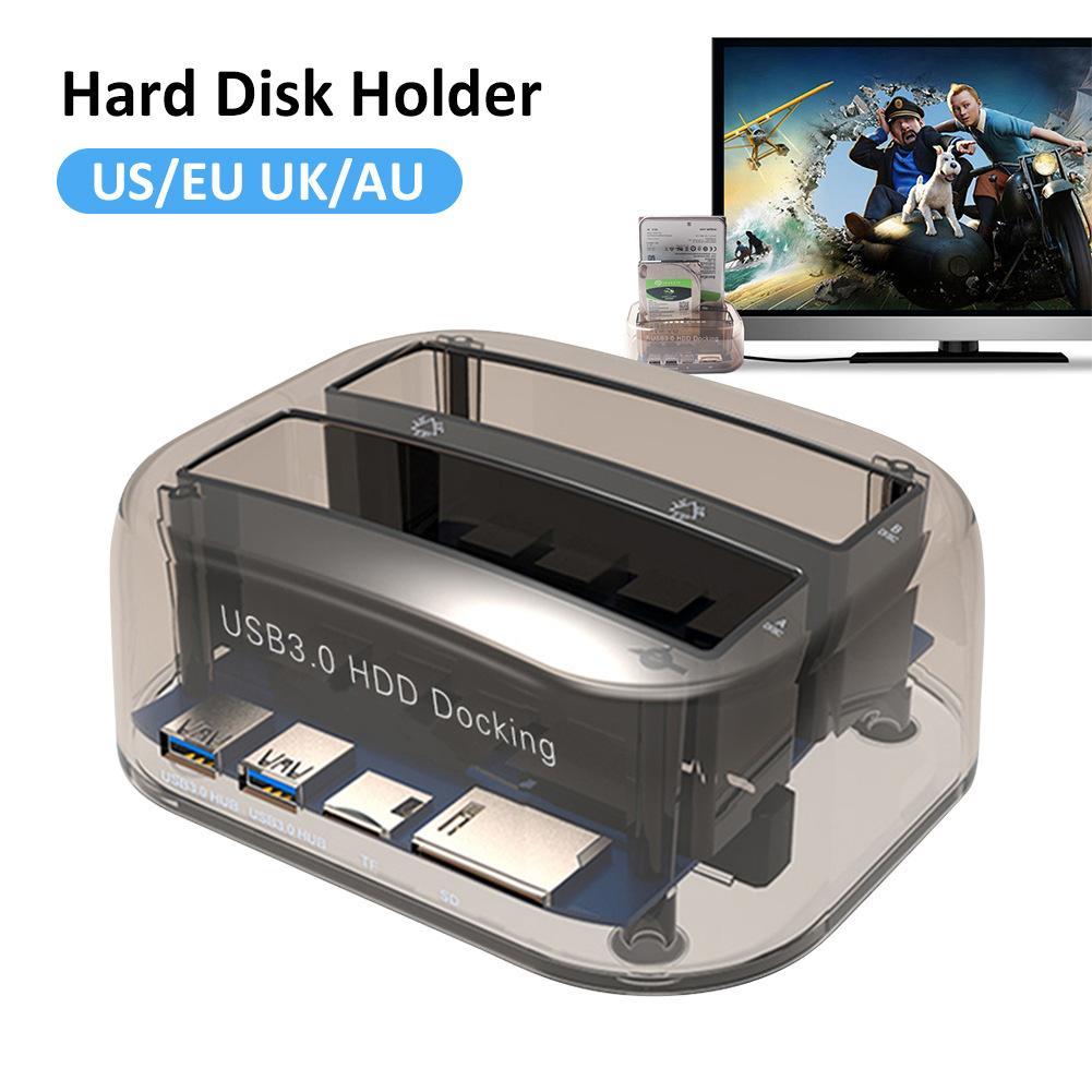 3.5 pouce et 2.5 pouce SATA USB 3.0 Plug And Play Multifonction HDD Station D'accueil Support De Base SD/TF carte Double Disque