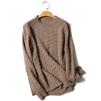 Kashana Cashmere Sweater Men Solid Color Long Sleeves Thick Winter Sweater Men Pullover 100 Cashmere Sweater