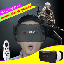 VR Virtual Reality 3D Glasses Google Cardboard VR CASE 5 Plus Pro Smart Wireless Bluetooth Mouse/Remote Control Gamepad 2