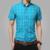 2016 nueva manga corta de algodón para hombres camisas camisas a cuadros para hombre casual moda masculina camisas slim fit a rayas hombres más el tamaño 5XL