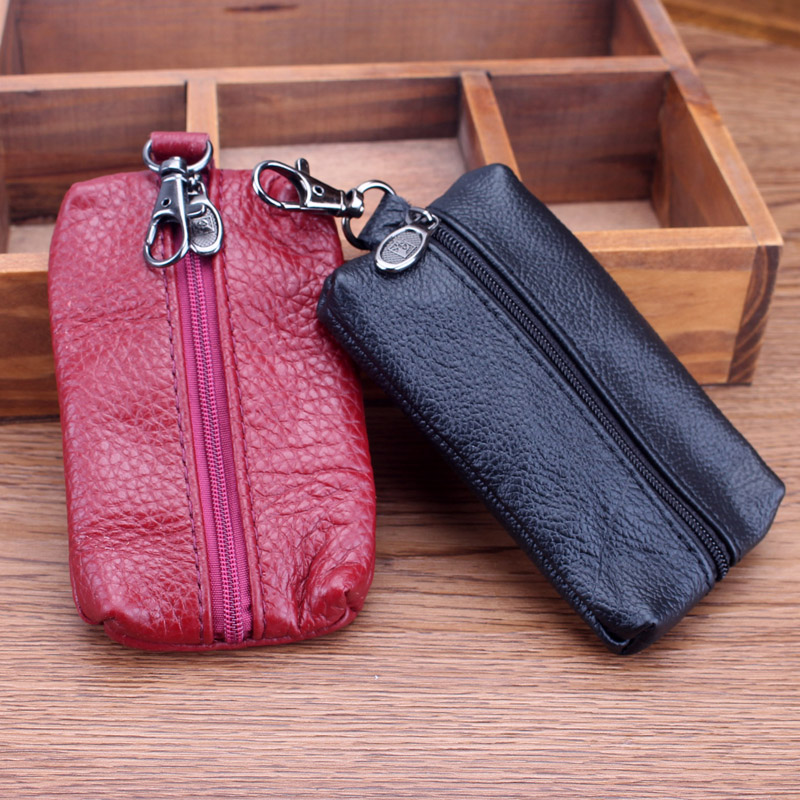 2019 Hot Unisex Cow Genuine Leather Car Key Holder Fashion Mutiple Housekeeper Keys Wallet Case High Quality Cute Men Key Bag