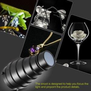 Image 5 - Metalu stożkowe osłona reflektora z siatką w plaster miodu 5 sztuk filtr kolorów zestaw do Bowens Mount Studio Strobe Monolight fotografii Flash