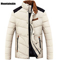 Mountainskin Men's Winter Down&Cotton Jackets Casual Thick Warm Patchwork Coats Stand Collar Solid Parkas Brand Clothing SA111