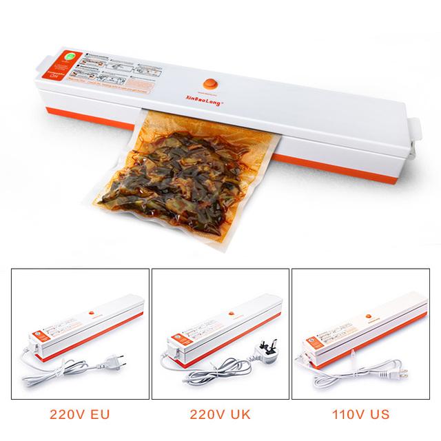 Best Electric Vacuum Food Sealer Packaging Machine 110 220V Home Film Sealer Vacuum Packer Including 15Pcs Bags Vacuum Stealer