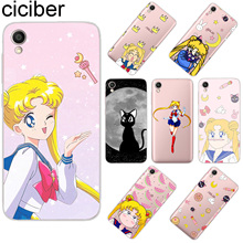 ciciber For ASUS ZenFone Live L1 V 3 GO Zoom S Soft TPU Phone Case For ASUS ZenFone MAX Lite Plus Pro M1 Sailor Moon Fundas Capa