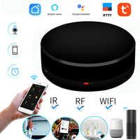 Interruptor inteligente Control remoto inalámbrico automatización inteligente hogar para TV aire acondicionado WIFI + IR + RF trabajo infrarrojo Alexa google IFTTT