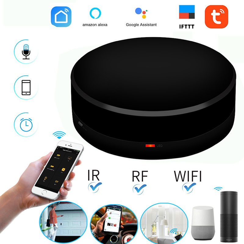 Smart Switch Wireless Remote Control Smart Home Automation For TV Air Conditioner WIFI+IR+RF Infrared Work Alexa Google IFTTT