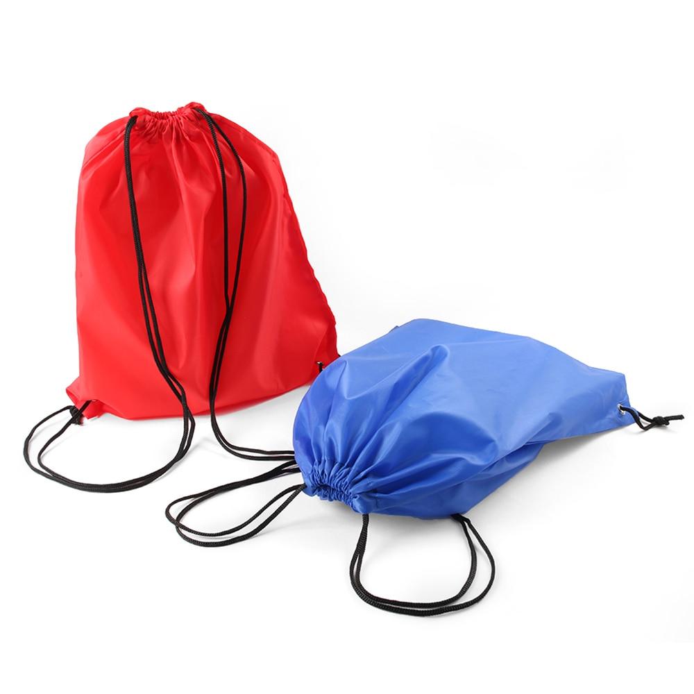 1 Pcs Fashion Colorful Gym Storage Bag Nylon Sports Drawstring Belt Riding Backpack Shoes Container Bag Clothes Organizer