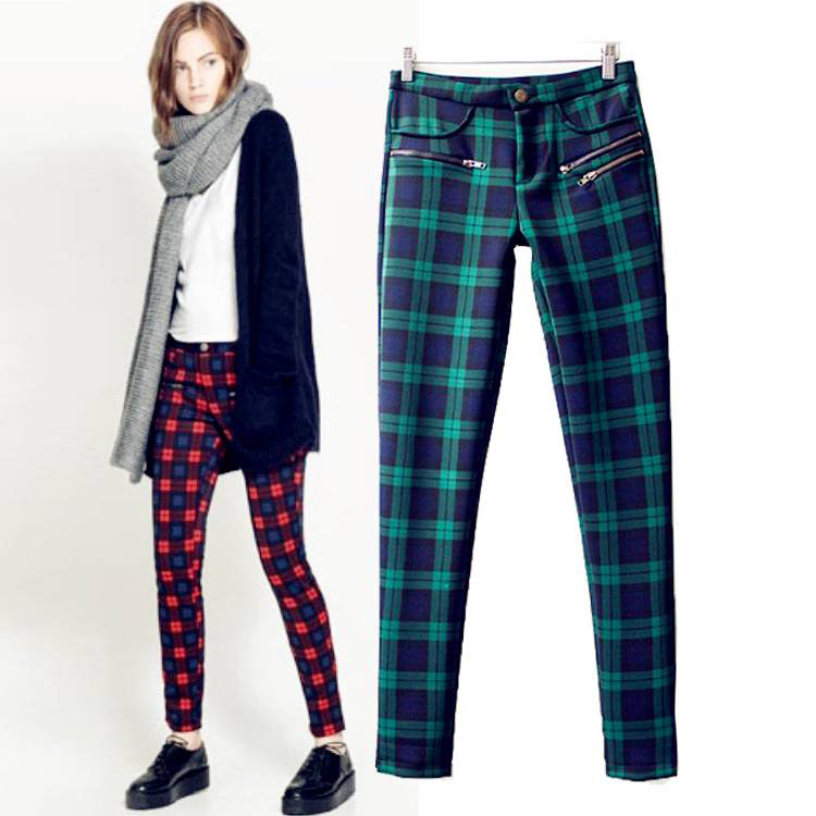 Popular Women Plaid Pants-Buy Cheap Women Plaid Pants lots from ...