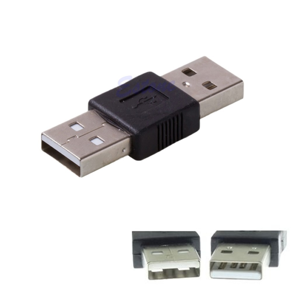 2.0 USB Male To USB Male Cord Cable Coupler Adapter Connector Convertor Changer