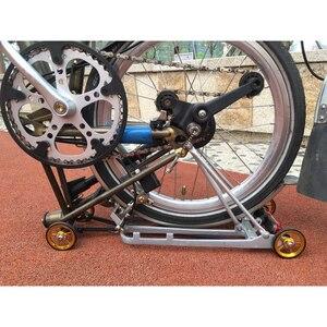 Image 3 - 1 paar Fahrrad Easywheel 3 Farben Aluminium Legierung Super Leichte Einfach Räder + Titan schrauben Für Brompton 22 gr/teile