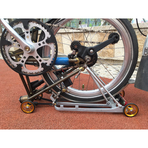Image 3 - 1 pair Bicycle Easywheel 3 Colors Aluminum Alloy Super Lightweight Easy Wheels + Titanium bolts For Brompton 22g/pcs