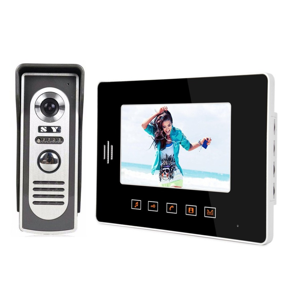 7 Inch Fashion Type Touch Indoor Unit Touch Button Video Doorbell Outdoor Machine Metal Rainproof Night Vision Function7 Inch Fashion Type Touch Indoor Unit Touch Button Video Doorbell Outdoor Machine Metal Rainproof Night Vision Function