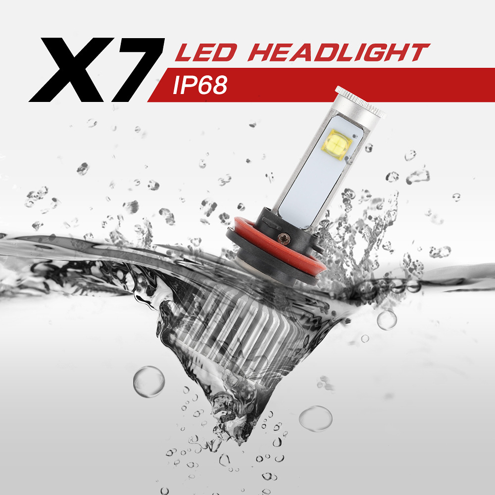 1pcs X7 Automotive LED Headlamps Super Bright LED Light H11/H8/H9 9006Car Headlights Fog Light Bulb Automobiles H4 LED Car Light