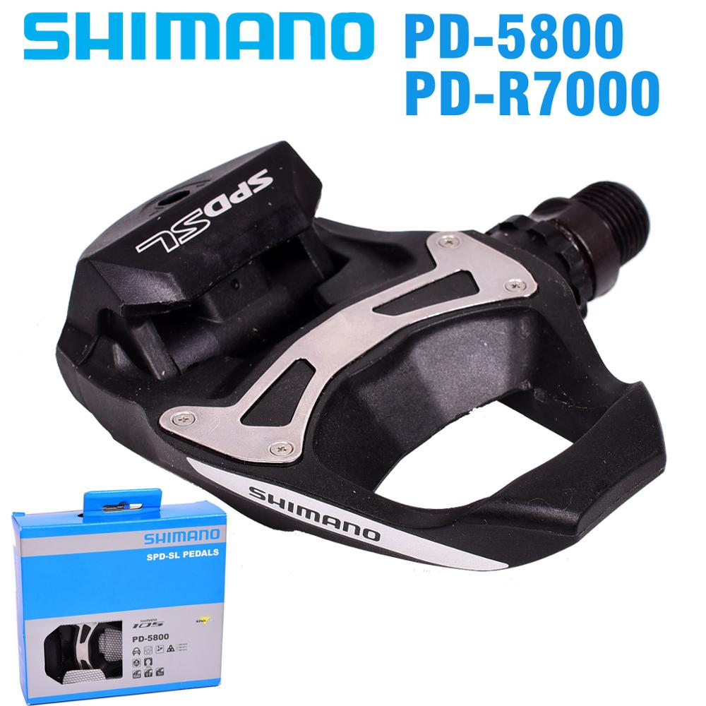 SHIMANO 105 PD5800 R7000 Self Locking SPD Pedals with SH11 Cleats Bicycle Racing Road Bike Accessories