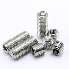 купить Hex Set Grub Metric Thread Machine Headless Screws Hexagon Socket Bolt 304 Stainless Steel M4 M5 M6 M8 M10 дешево