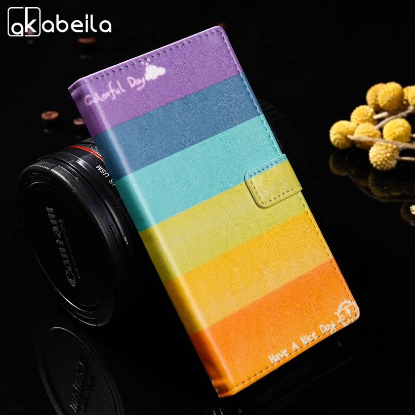 AKABEILA Painted Cases For Asus Zenfone 3 Max ZC520TL X008D Zenfone3 Max Flip Phone Case Back Cover ZC520TL Housings