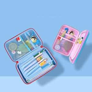 Image 5 - Kawaii 3D de lápiz de la Escuela para niñas Penal coreano bolsa bonita Eva maquillaje Pencilcase bolsa de caja de papelería sanciones