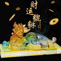 HOT SALE # 2019 Office home CAR efficacious FENG SHUI Talisman Protection Money Drawing PI XIU Crystal Sculpture ART statue