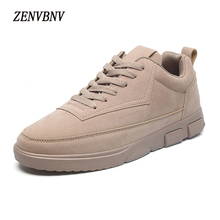 Фотография ZENVBNV 2017 New Men Shoe Fashion Solid Leather Men Casual Shoes Spring Autumn Men