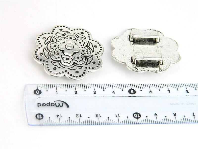 10mm Plana de Cuero Suministros flor grande Slider Componentes pulsera de Plata