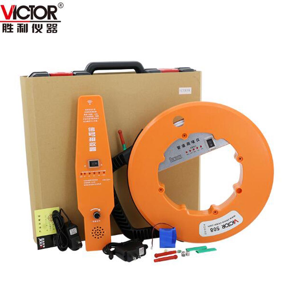 VICTOR VC508/VC508A Wall Pipe Blockage Detector Diagnostic-tool with 20m/30m Line