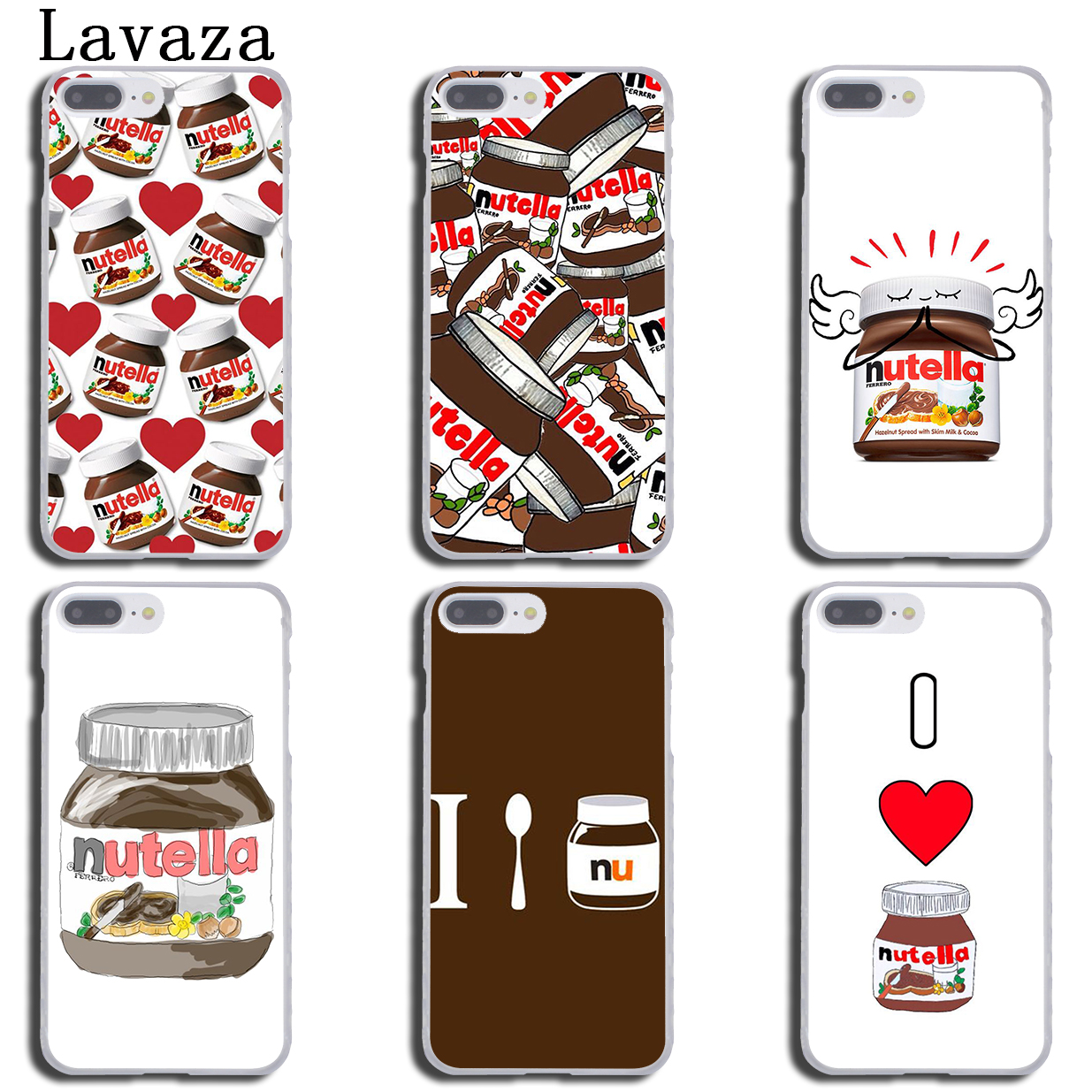 Lavaza chocolate Food Tumblr Nutella cute Hard Coque Phone Shell Case for Apple iPhone X 8