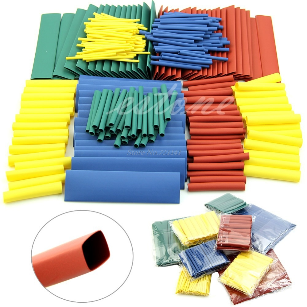 260pcs Assortment 2:1 Heat Shrink Tubing Tube Sleeving Wrap Wire 8 Sizes (1/2/3/4/6/8/10/13mm) Dropship