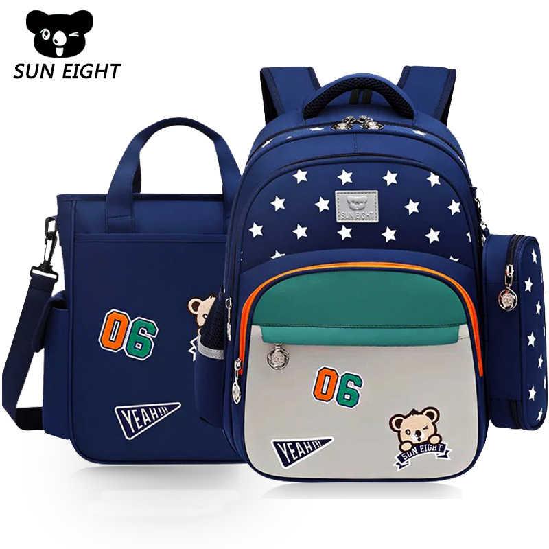 SUN แปดเด็กโรงเรียนกระเป๋า Nylon กันน้ำเด็ก Schoolbags สีฟ้า/สีแดงกระเป๋าเป้สะพายหลังสำหรับสาว Back Pack Snack กระเป๋าเป้สะพายหลัง