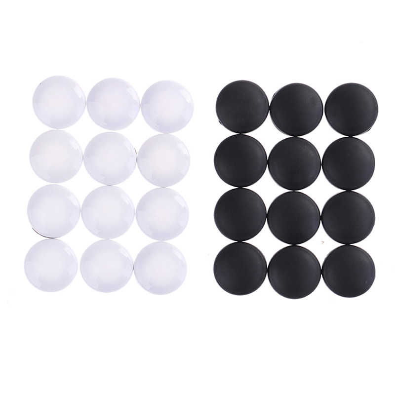 12Pcs Universal ABS Plastic Car Interior Door Lock Screw Protector Cover Cap Trim White/Black Colors