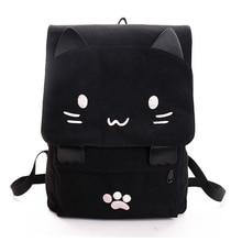 Женщины прекрасный кот рюкзак девушки школьная сумка мультфильм студенты сумка Rucksuck LBY2017