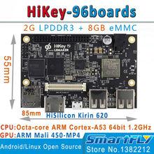 Junta de Desarrollo HiKey620 2G DDR 96 Tableros Kirin620 BRAZO Cortex-A53 octa-core android6.0 64bit linux de código abierto AOSP apoyo